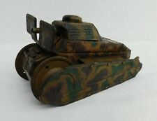 OLD WIND UP TOY TANK, TCO TIPP & CO??, NO MAKER,USED, WORKS, FOR RESTORE, NO KEY