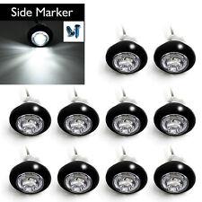 "10 pcs White Side Marker 3/4"" LED Lens Signal Light Combination Clearance light"
