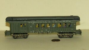 Metal ho VIRGINIA & TRUCKEE COMBINATION CAR for PARTS / REPAIR on Train Layouts