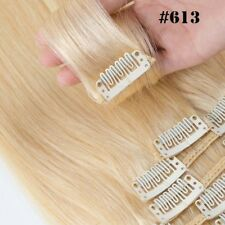 ✿ US Full Head Clip in Remy Human Hair Extensions ✿ 10-28 inch ON SALE 8Pieces