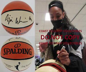 A'Ja Wilson Las Vegas Aces autographed WNBA basketball exact proof COA