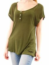 Wildfox Women's Lagoon Henley Scripted Wildfox Scoop Neck T-shirt Size S BCF511