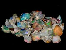 """132.70 Cts Natural Ethiopian Welo Opal Rough """"Bright,Flash,Fire,Color"""",Nicer Lot"""