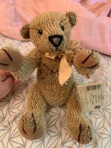 Russ UK Vintage Humpback Mohair Bear Bartholomew Plush With Tag Stuffed Animal