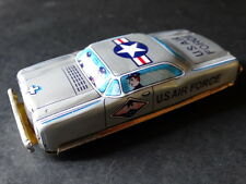 Vintage Nomura Japan Tin Litho Friction U.S. Air Force Car Military Soldier Toy
