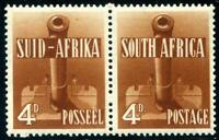 HERRICKSTAMP SOUTH AFRICA Sc.# 86c Red Brown Pair Superb NH