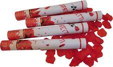 8xKonfettikanonen rote Rosen Popper 40 cm Konfetti Shooter Hochzeit Kanone