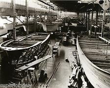 Chris Craft Factory Algonac MI Wooden Boats Boat Building 1940 Wood Boats GREAT