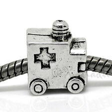 Ambulance European Charm Bead For Bracelets - Gift For Paramedics And Doctors