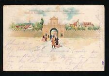 Exhibition Belgium EXPOSITION de Bruxelles 1897 u/b used 1898 PPC faults