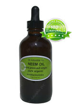 4oz Glass Bottle with Glass Dropper Neem Oil Pure&Organic for Skin Care Hair