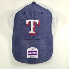 new style 56f80 a6074 Texas Rangers Womens Blue Strap Back Hat Fan Favorite Sparkle Baseball Cap