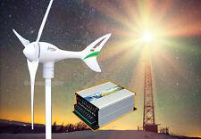 Apollo 550 W 12V AC Magnet Pma 3Blade Wind Turbine Generator+ Hybrid Controller