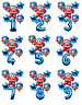 SUPER WINGS Inspired BLUE 30'' Age Number Happy Birthday 6 Helium Party Balloons