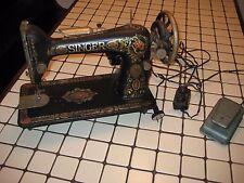 Old Vintage ANTIQUE 1921 Singer Model 66 REDEYE WORKING TREADLE SEWING MACHINE