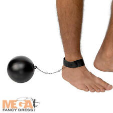 Ball and Chain Adults Fancy Dress Convict Prisoner Mens Stag Costume Accessory