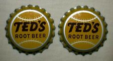 10 VINTAGE TED'S ROOT BEER SODA BOTTLE CAPS TED WILLIAMS BOSTON RED SOX BASEBALL