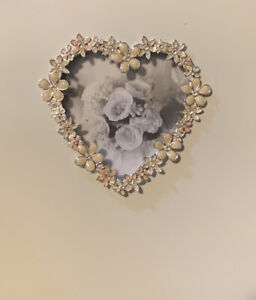 New Wedding Collection Photo Album-Floral Rhinestone And Ceramic Hearts
