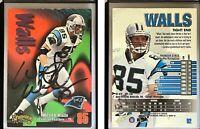 Wesley Walls Signed 1998 SkyBox Thunder #92 Card Carolina Panthers Autograph
