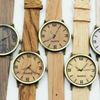 Wooden Men's Women's Watch Wood Quartz Watch Casual Natural Wristwatches