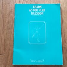 Learn As You Play Bassoon by Peter Wastall