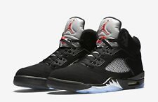 Nike Air Jordan Retro 5 V OG Black Metallic Red Silver 845035-0 Size 14*Nice!