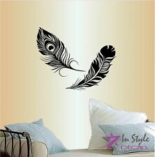 Wall Vinyl Peacock Feather Bird Any Room Decor Design Wall Sticker 476