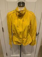 Lafayette 148 New York Dark Yellow Zip-Up 3/4 Sleeve Jacket, Size 8