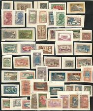French Colonies: Lot of 120 diff. stamps in fragment, used hinged. FC12