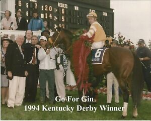 "1994 - GO FOR GIN in the Kentucky Derby Winners Circle - 10"" x 8"""