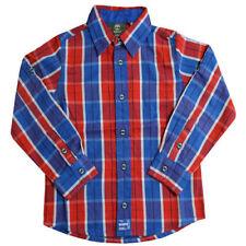 Chemises avec des motifs bleus Carreaux à 4 ans pour garçon de 2 à 16 ans