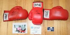 Muhammad Ali, Joe Frazier, George Foreman Signed Boxing Gloves – Oa, Ssg