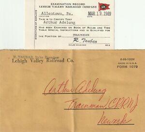 LEHIGH VALLEY RAILROAD EXAMINE RECORD 1969