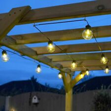 Battery Power LED Outdoor Clear Festoon Lights | Garden Globe Indoor Home Decor