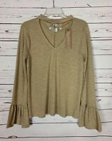Emmer & Oat Boutique Women's L Large Cute Fall Bell Sleeve Sweater NEW With TAGS