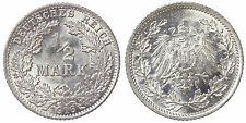 1/2 MARK 1916 A EMPIRE GERMANIA GERMANY ARGENTO SILVER #6865