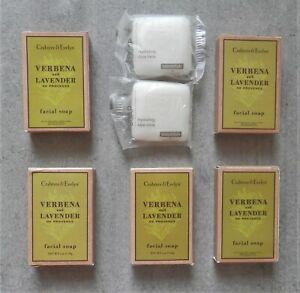 7 Crabtree & Evelyn Facial Soap Verbena and Lavender + Essentials Bar Soap - NEW