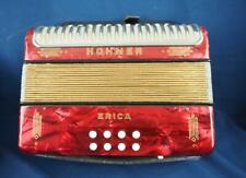 Vintage New in Box HOHNER ERICA Accordion G-C Red Diatonic 2 Rows Original Box