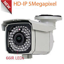 IP 5MP HD PoE 66IR 2.8-12mm Varifocal Zoom Outdoor CCTV Security Camera System