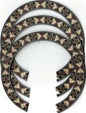 THREE, UKULELE ROSETTES, (Soprano)  INLAY, SOUND HOLE 413-S-3