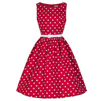 Women Retro Polka Dot Swing 1950s Housewife Pinup Vintage Rockabilly Party Dress