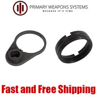 Primary Weapons Systems PWS Ratchet Lock Castle Nut &QD Sling End Plate 5.56/223
