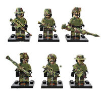 6Pcs LEGO SWAT Military Soldier Toys With Custom Weapon Gun Building Blocks Toys