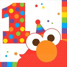 Elmo Turns One 16 Beverage Napkins 1st Birthday Party Sesame Street