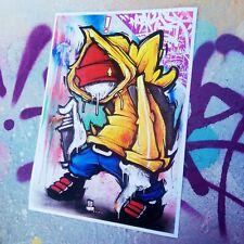 HOAKSER GRAFFITI ART PRINT A4 CHARACTER THE EQUIPPED FAT CAP PAINTING WALL ART