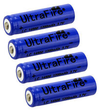 4pcs TR 14500 3.7V 1200mAH Lithium Li-ion Rechargeable Battery Batteries USA