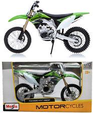 KAWASAKI KX450F 1:12 Die-Cast Motocross Mx Motocicleta Modelo Juguete Verde