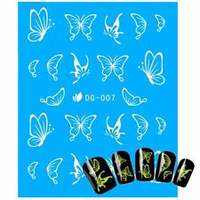 DIY Decals Nail Art Stickers Water Transfer Butterfly Design Glow in The Dark