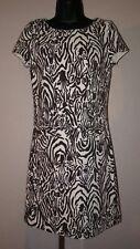Lilly Pulitzer Layton Short Sleeve Dress Full Entourage Zebra Brown Ivory Size S