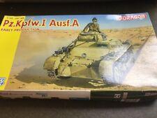 Dragon 1/35 6289 pz. Kpfw. I Ausf. un kit de modelo de producción temprana sellada caja de daño,